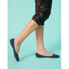 微氣墊波浪矽膠隱形襪-藍色