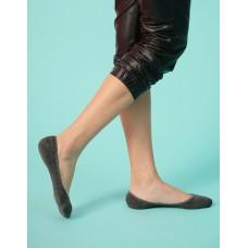 微氣墊波浪矽膠隱形襪-深灰