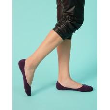微氣墊波浪矽膠隱形襪-紫色