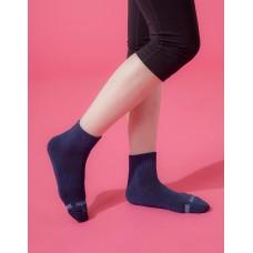 素面運動逆氣流氣墊襪-藍色
