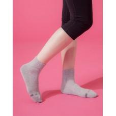 素面運動逆氣流氣墊襪-灰色
