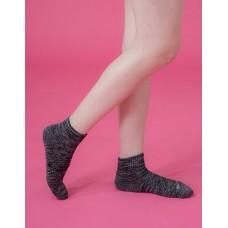 混色潮流氣墊襪-黑色