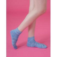 混色潮流氣墊襪-藍色