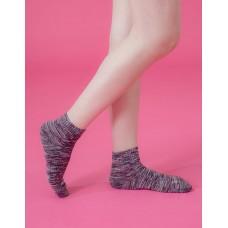 混色潮流氣墊襪-暗紅