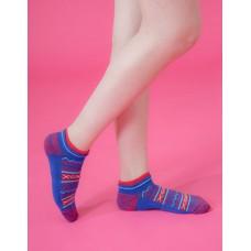 民族風格氣墊船短襪-藍色