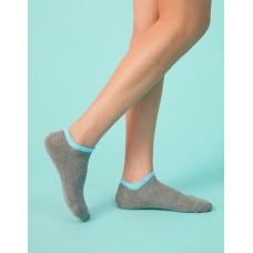 簡約糖果色系運動船短襪-灰色