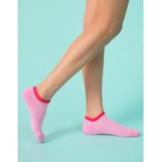 簡約糖果色系運動船短襪-粉紅