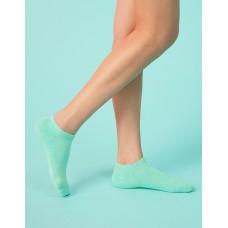 麻花拼色氣墊船短襪-綠色