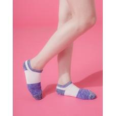夜幕星雨運動船短襪-藍邊