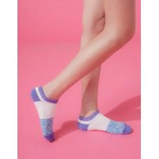 夜幕星雨運動船短襪-紫邊