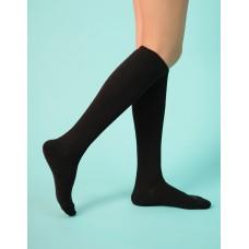 學生中筒長薄襪-黑色