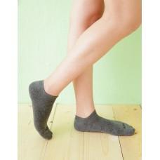 微分子氣墊單色船型薄襪-深灰