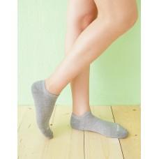 微分子氣墊單色船型薄襪-淺灰