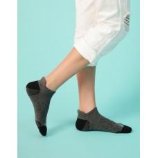 個性皺褶微分子氣墊襪-深灰