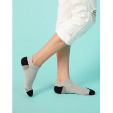 個性皺褶微分子氣墊襪-淺灰