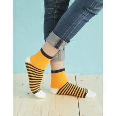 繽紛女款親子襪-黃色