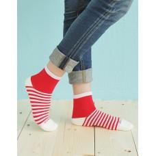 繽紛女款親子襪-紅色