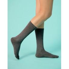 淑女素面五趾長襪-灰色
