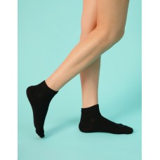 淑女素面五趾短襪-黑色