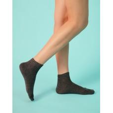 淑女素面五趾短襪-灰色