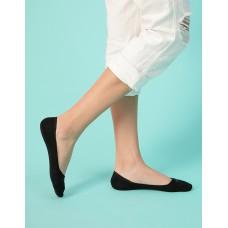 單色超低矽膠船短隱形襪-黑色