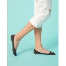 單色超低矽膠船短隱形襪-灰色