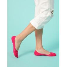 單色超低矽膠船短隱形襪-桃紅
