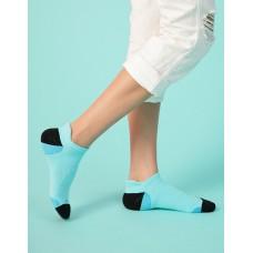 個性皺褶微分子氣墊襪-藍色