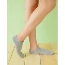 繽紛一點點船型薄襪-灰色