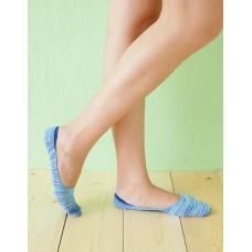 麻紗超低矽膠船短隱形襪-藍色