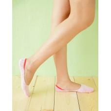麻紗超低矽膠船短隱形襪-粉紅