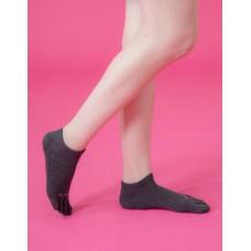 素色五趾船短薄襪-深灰