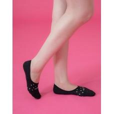 偶陣雨低型隱形襪-黑色