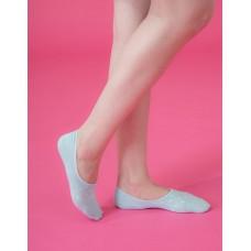 偶陣雨低型隱形襪-粉綠