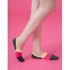 熱帶水果船短隱形襪-黃邊