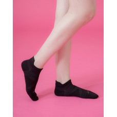 全薄款X型減壓足弓船短襪-黑色