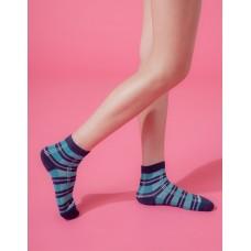 蘇格蘭風琴微分子長薄襪-藍邊