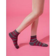 蘇格蘭風琴微分子長薄襪-深灰邊