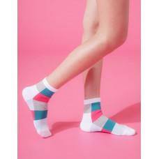 水彩調色盤微分子長薄襪-白桃
