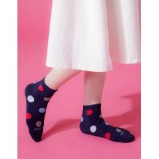 圓點氣泡微分子薄襪-藍色