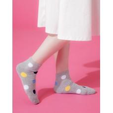 圓點氣泡微分子薄襪-灰色