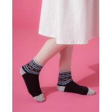 捕夢網運動氣墊襪-黑色