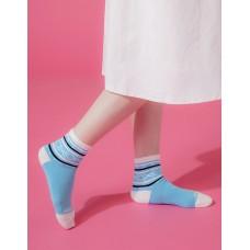 捕夢網運動氣墊襪-藍色