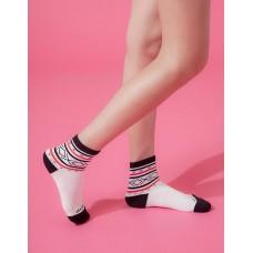 捕夢網運動氣墊襪-白色