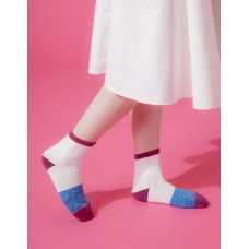 夜幕星雨運動氣墊襪-紅邊